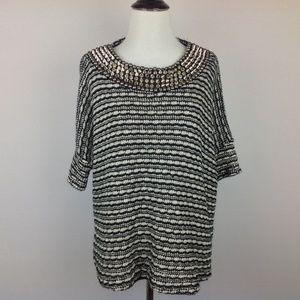 Zara Crochet Sweater Womens Medium Studded Spike